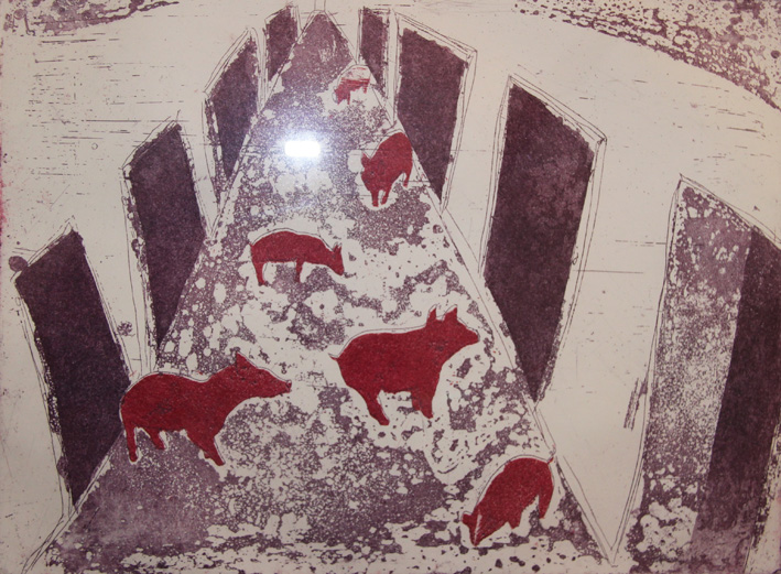 pigs tabel etch doors