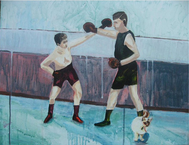 boxing cat art